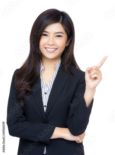 Asian business woman get idea