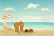 Retro summer vacation background. Vector