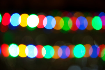 Multicolored abstract circular bokeh background.