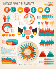 Business infographics flat template. Vector.