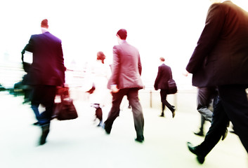 Commuters on the Way to Work