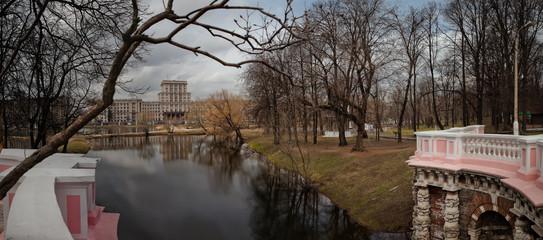 Парк Лефортово. Пруды. Москва. Россия