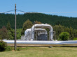 Wairakei NZ geothermal power hot water pipeline