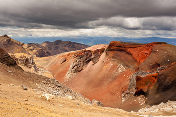 Volcanic landscape in Tonagriro NP New Zealand