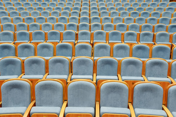 Armchairs in the auditorium