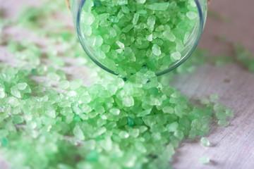 glass jar for bath salt