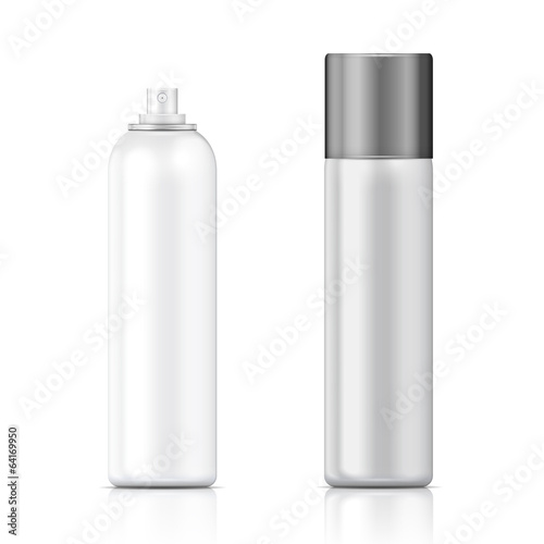 White and silver sprayer bottle template.