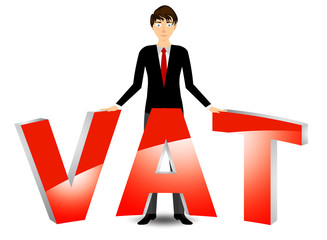 Vat payable cartoon vector on a white background