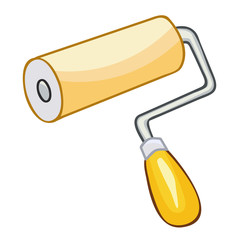 paint roller isolated illustration