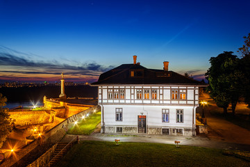 Kalemegdan park at night, Belgrade, Serbia