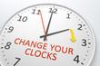 Leinwandbild Motiv Change Your Clocks