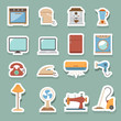 electronic home icons set