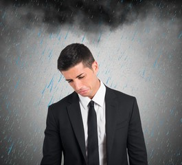 Pessimist businessman for the crisis