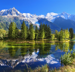 The mountain resort of Chamonix in France