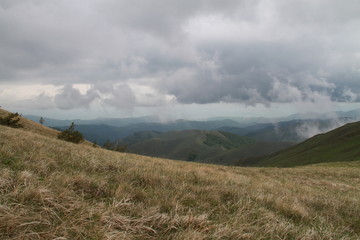 Hills from a cloudy day in Bajgora hills, Kosovo