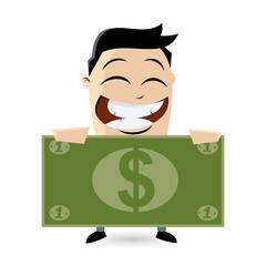 geld verdienen sparen mann männchen