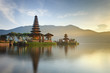 Leinwanddruck Bild - Ulun Danu temple on Bratan lake, Bali, Indonesia