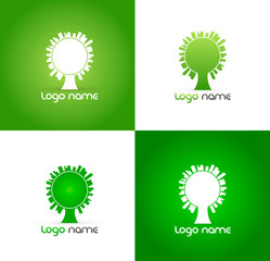 Eco tree Business icon template