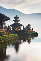Ulu Danu temple on lake bratan, Bali, Indonesia