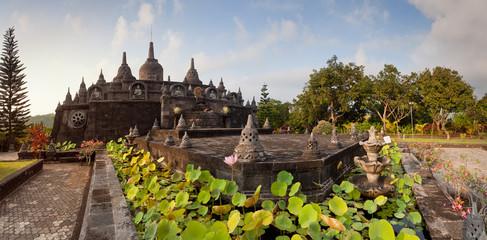 Panorama of Banjar budhist temple Bali, Indonesia