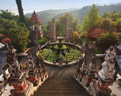 Papiers peints Indonésie Banjar budhist temple Bali at sunrise, Bali landmark, Indonesia