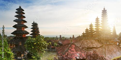 Besakih temple panorama at sunrise, Bali, Indonesia