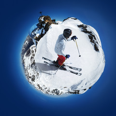 Skiing On A Little Planet