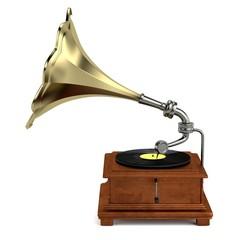 realistic 3d render of gramophone