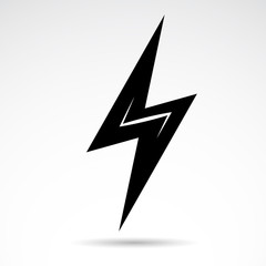 Electric energy - vector icon isolated on white background.