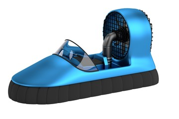 realistic 3d render of hovercraft