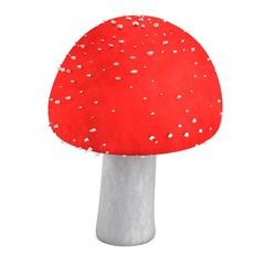 realistic 3d render of poison mushroom