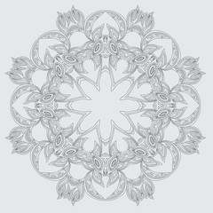 Circular ornamental pattern. Vector art