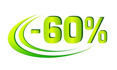 Rabatt - 2 - 60%