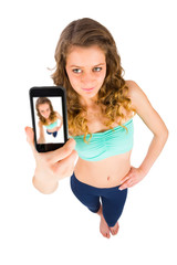 Teenager Taking Selfie
