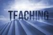 Teaching against steps against blue sky