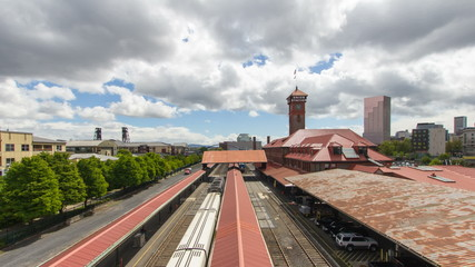 Union Station in Portland Oregon Time Lapse 1080p