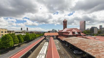 Union Station in Portland Oregon Time Lapse 1080p