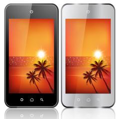 スマートフォン 携帯 海