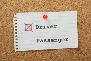 Driver or Passenger Tick Boxes