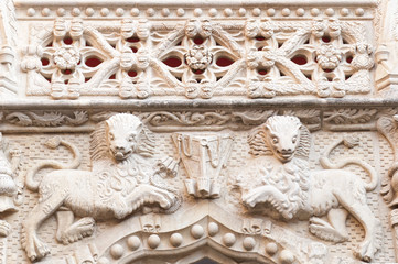 Detail of the Palace of the Infantry (Guadalajara, Spain)