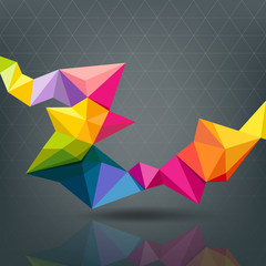 Abstract Geometric colorful modern design