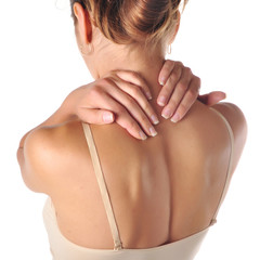 Acute pain in a neck at the women