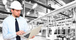 Leinwandbild Motiv Engineering High Tech industrie factory