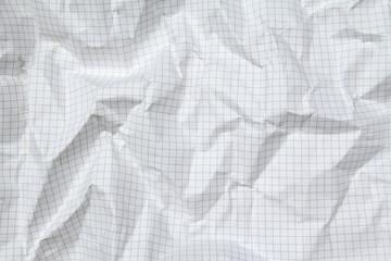 Foglio di carta accartocciata - quadretti