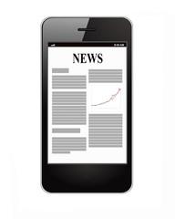 News on smartphone display