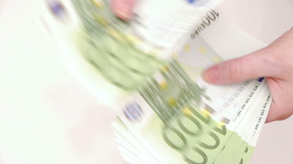 HD - Woman counting money. Euro