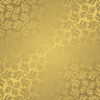 Vintage seamless wallpaper in gold