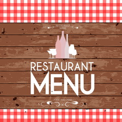Menu template for restaurant - vector card