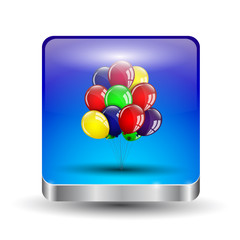 Balloons icons.