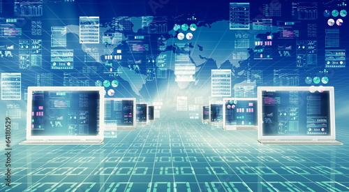 Leinwandbild Motiv Internet Computer